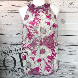 Liberty of London Pink Floral Halter Blouse